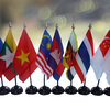 ธงชาติกลุ่มประเทศอาเซียนแบบตั้งโต๊ะ